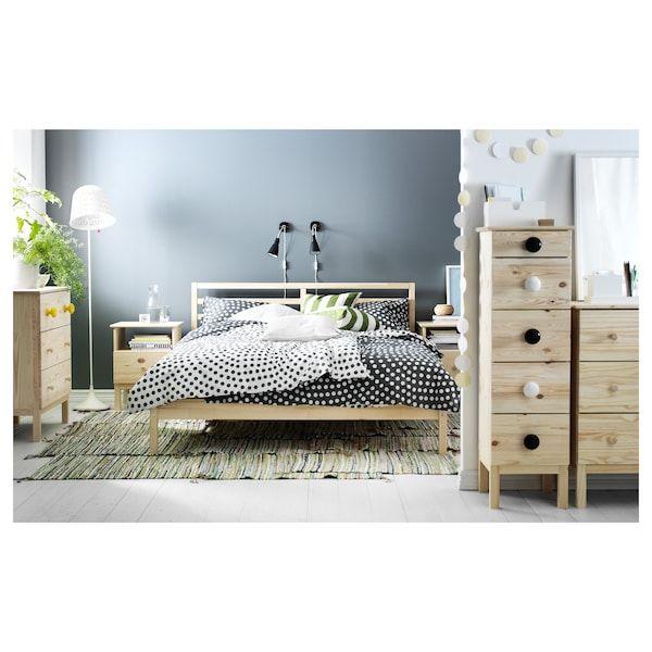 Tarva Estrutura De Cama Pinho 160x200 Cm Ikea In 2020 Bed Frame Wooden Bed Frames Steel Bed Frame