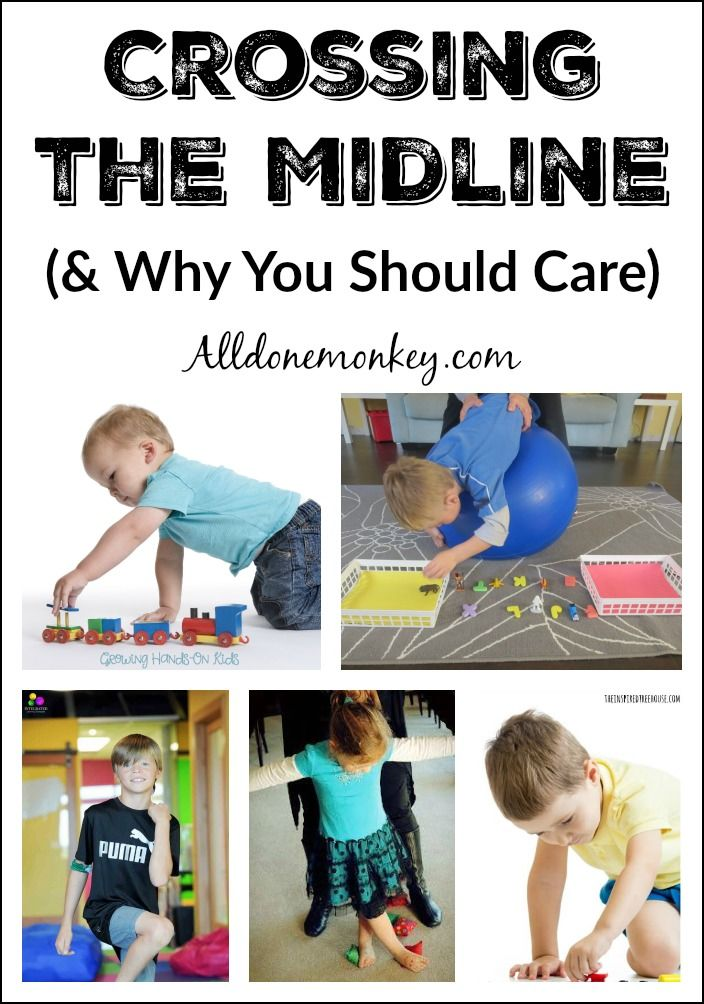 Gross motor skills such as crossing the midilne are important for a child's development. Round-up of posts about why it is important and how to encourage.
