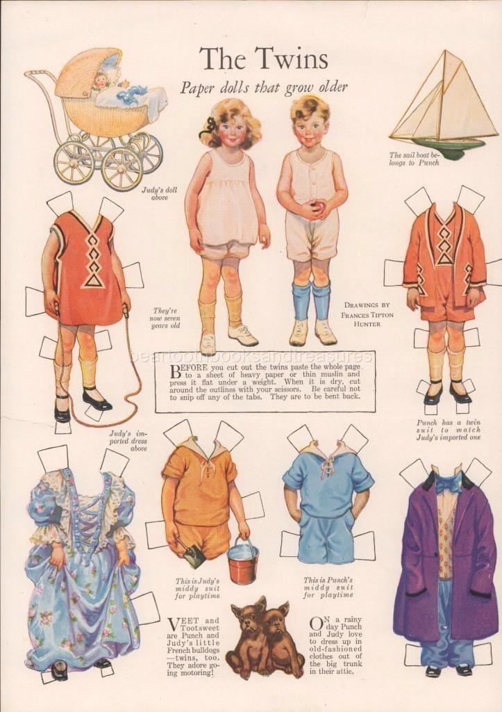 Original Antique Frances Tipton Hunter Paper Dolls Ladies Home Journal 1920'S   eBay