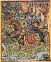 Wandteppich, Tapisserie König Artus und seine Ritter