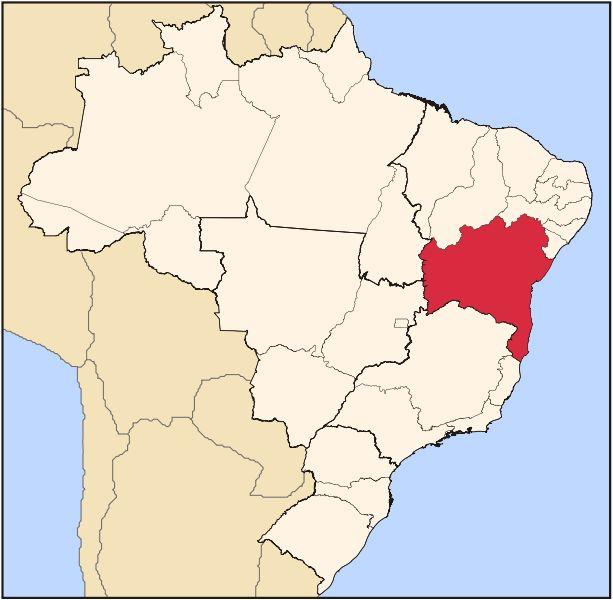Mapas da Bahia - A Bahia está situada ao sul da Região Nordeste do Brasil e é o maior estado da região, fazendo limites com 8 outros estados brasileiros: Sergipe, Alagoas, Pernambuco e Piauí (N); Tocantins e Goiás (O); Minas Gerais e Espírito Santo (S).#Brasil#Beaches#travel