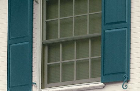 How to paint exterior shutters easy how to with step by for Paint vinyl shutters