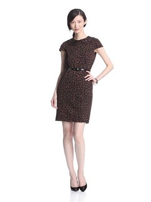 Marina Women's Leopard Jacquard Sheath Dress