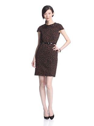Marina Women's Leopard Jacquard Sheath Dress