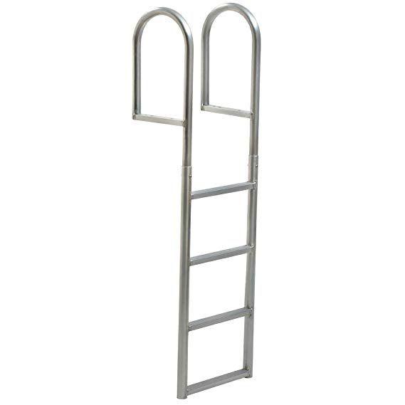 Amazon Com Tommy Docks 4 Step Standard Rung Aluminum Dock Ladder Heavy Duty Boat Dock Hardware Marine Access Dock Ladder Ladder Aluminium Ladder