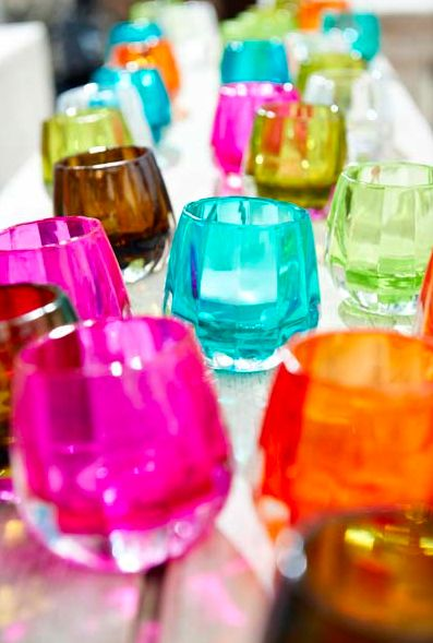 Coloured Glass Votives available from Browsers Furniture Co., Limerick, Ireland and www.browsers.ie.