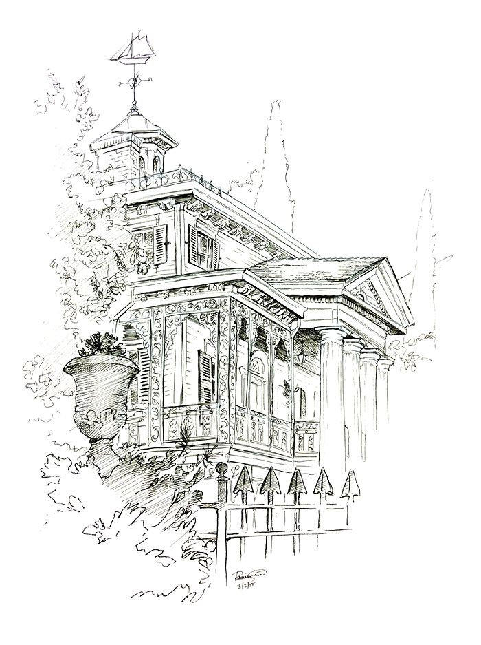 Mansion Drawing: 1855 Best Disney-Haunted Mansion Images On Pinterest