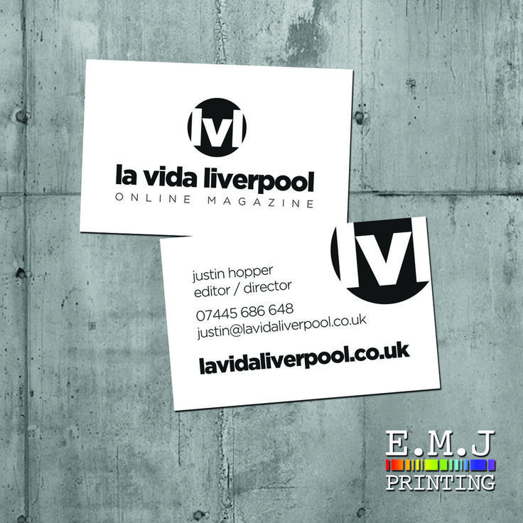 240 best emj printing images on pinterest business cards for la vida liverpool designed printed and delivered reheart Images