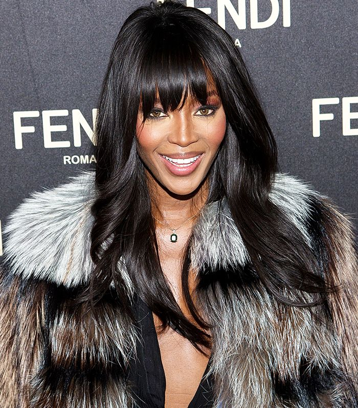 Naomi Campbell giving off a sexy, effortless, rock 'n roll vibe