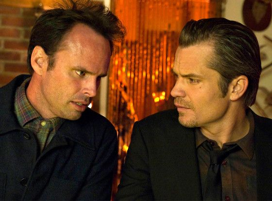 "Justified Boss Reveals ""We Absolutely Don't Know How This Is Going to End Yet""  Tim Olyphant, Walton Goggins, Justified"