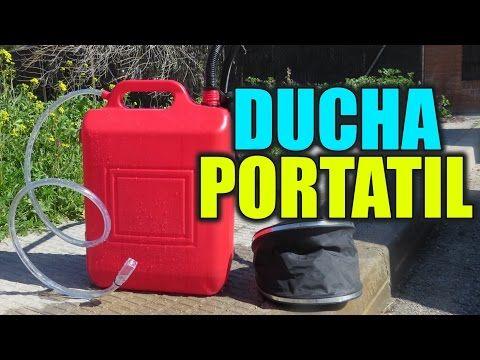 Como hacer una DUCHA PORTATIL | Para Coche, Autocaravana o Camping - YouTube
