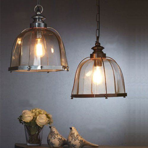 Traditional Glass Cage Pendant Light | Assorted Finishes – Lighting Collective