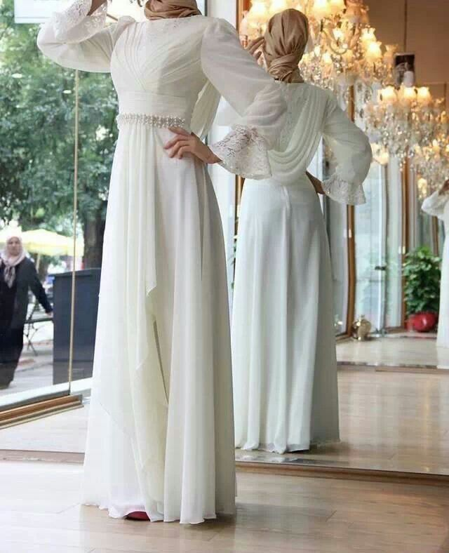 White modest wedding elegance