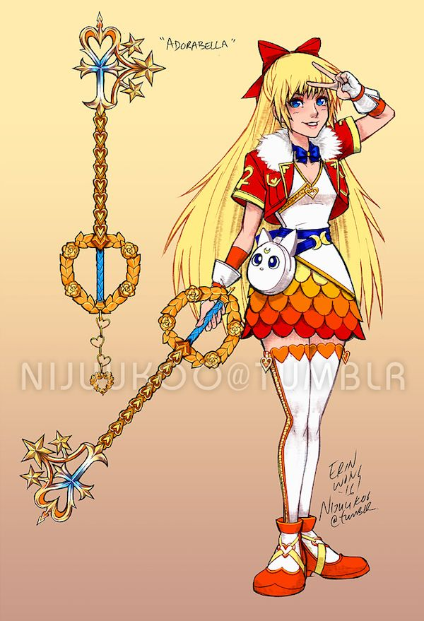 Sailor Moon / Kingdom Hearts Crossover Art Is Cosplay-Ready