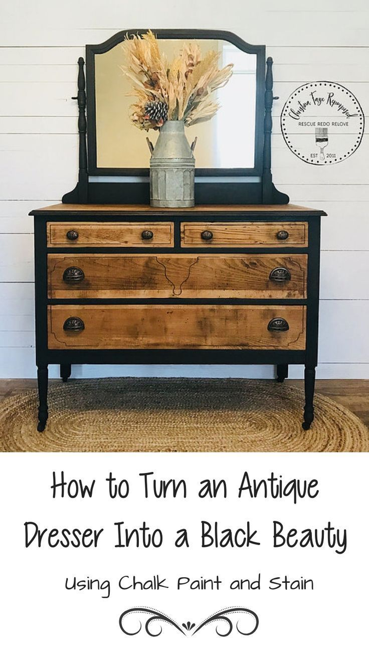 Chalk Paint And Stain Can Make A Vintage Piece Look