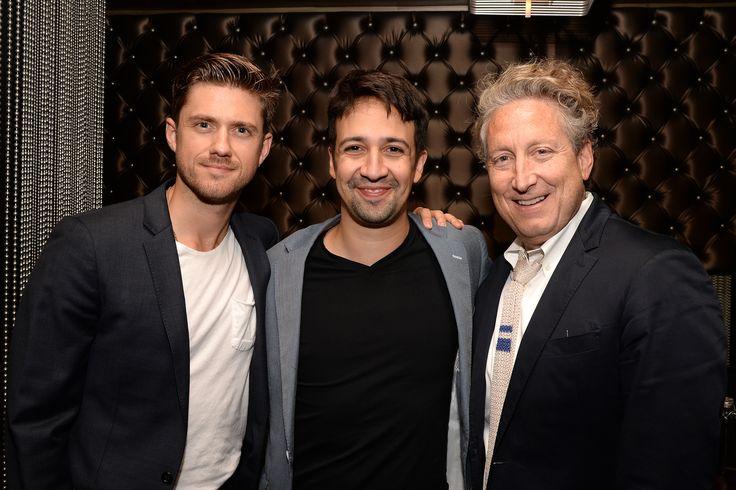 Actor Aaron Tveit, Lin-Manuel Miranda and Bernard Telsey