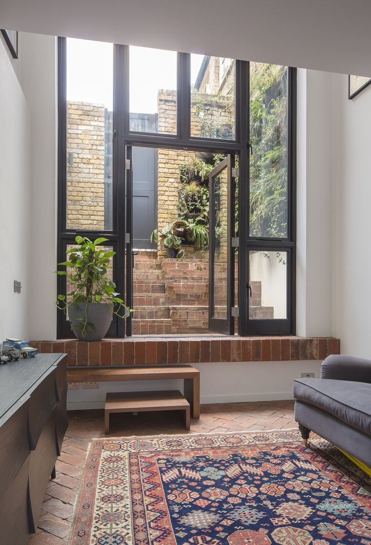 Brick Floor And Courtyard With Double Height Timber Glazing Kirkwood Mccarthy