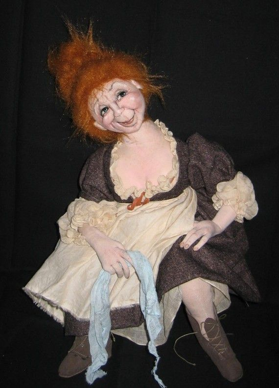 Jeanne The Innkeeper's Wife Art Doll by Sharon F. Mitchell e-pattern