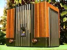 Incrível Década De 1930 Art Deco Vintage Stromberg Carlson Madeira
