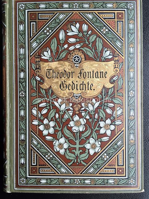 1889 Gedichte Fontane Theodor Dritte vermehrte Auflage Mit einem Bildniß