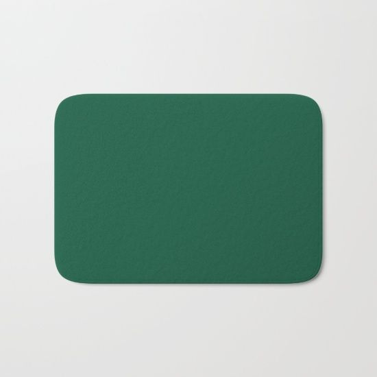 Teal The World (Green) Bath Mat by Moonshine Paradise #earthy #teal #solid #color #art