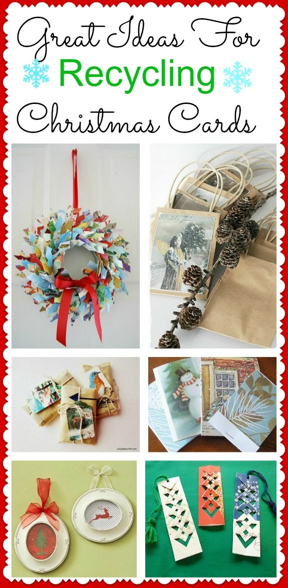 Give your Christmas cards new life after the holidays! Here are some great ideas for recycling your Christmas cards!