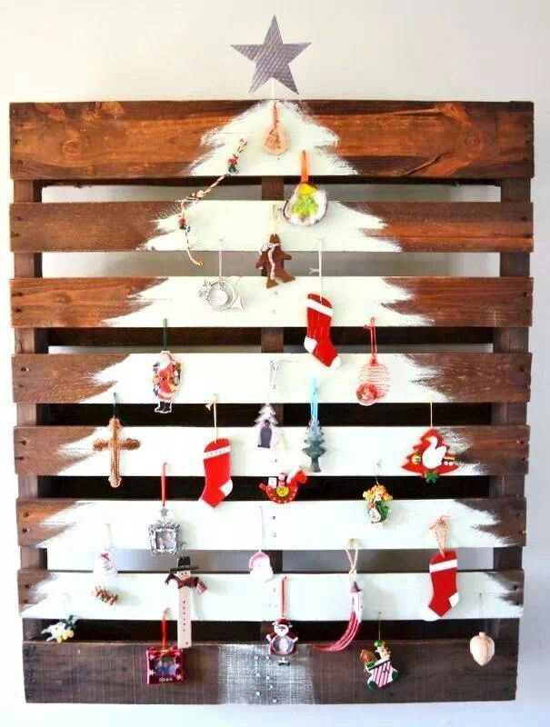 Cute way to display the handmade ornaments from your little ones!