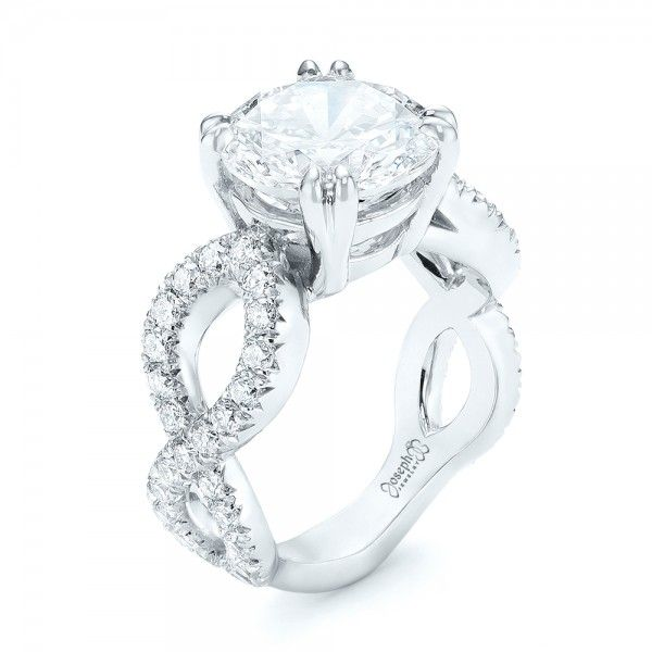 Cute Custom Diamond Engagement Ring
