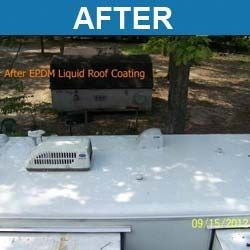 Liquid Roof, Solution For RV Roof Leaks Repair   EPDM Coatings