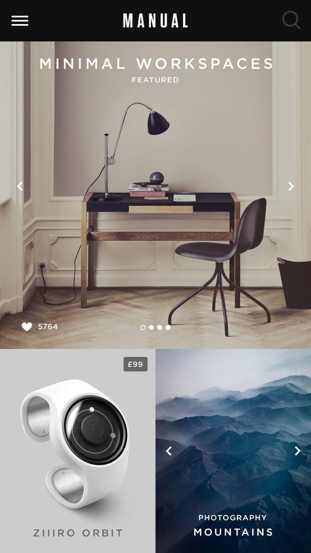 Manual iPhone App | Mobile User Interface Design #UIdesign