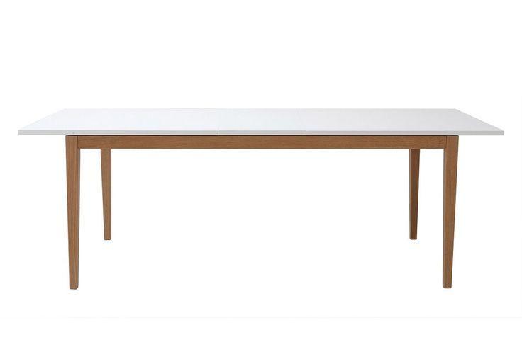 Design Esstisch Ausziehbar Weiss Fusse Holz 180 260 Cm Delah Design