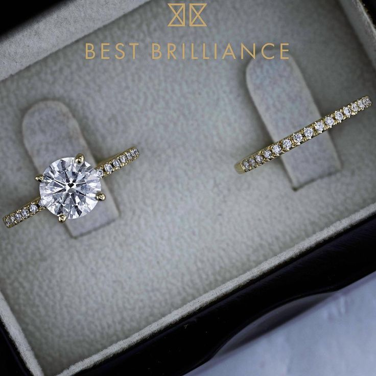 We can't get enough of Item J99956! Click on the link in our bio for full details on this wedding set, with a 1.7 carat round brilliant diamond sitting center stage. Shop with peace of mind, •certified diamonds•free insured shipping•thirty day return policy. 💍💍💍 #BestChoice #BestBrilliance #diamond #diamondring #forsale #thebest #marryme #howheasked #shesaidyes #wedding #bride #diamond #diamondring #beautiful #sparkle #engagementring #weddingset #bride #bridetobe