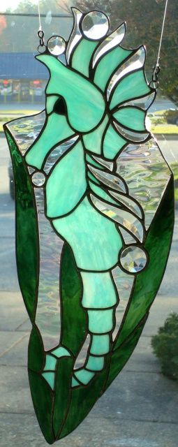 Glass Gallery Stained Glass - Neat Sea Horse design