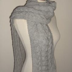 Echarpe tricotée main en tricot irlandais, pour homme...ou femme !