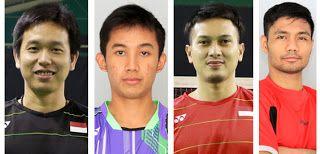 Kiri ke kanan: Hendra Setiawan, Rian Agung, Mohammad Ahsan dan Berry Angriawan/Badmintonindonesia...