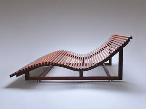 Handkrafted - Maker Profile: Ian factor. Furniture Designer & Maker from Mittagong, New South Wales. Legato Chaise Lounge made from Western Australian Jarrah.