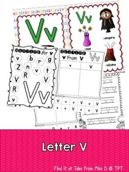 This pack contains no prep/print and go activities for the letter V.