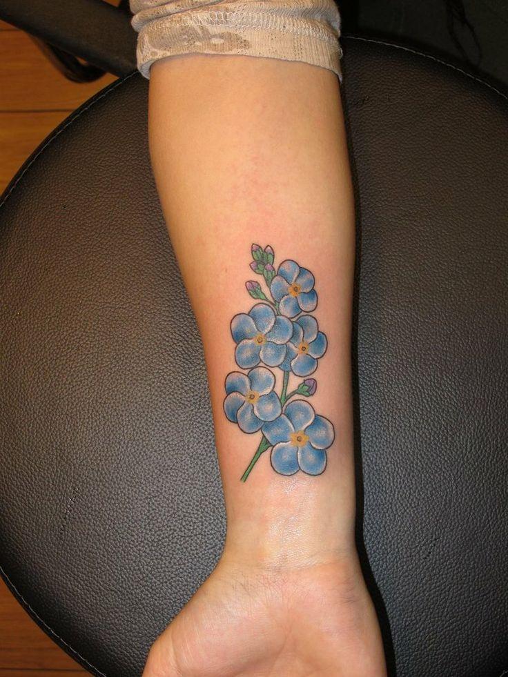 Le 10 migliori idee su tatuaggi stile line su pinterest for Forget me not tattoo
