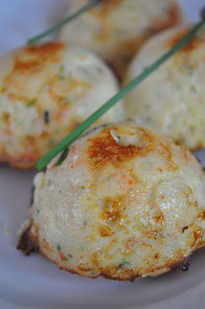 Mousse de crevettes en dôme (saumon, cabillaud, thon, saint Jacques) Demarle