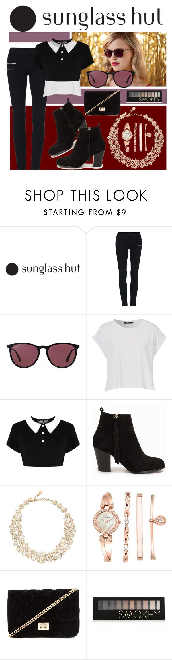 """""""Celebrate in Every Shade with Sunglass Hut: Contest Entry"""" by zoella13 on Polyvore featuring Ray-Ban, Nly Shoes, Kate Spade, Anne Klein, Forever 21, sunglasshut and ZoesContestEntries"""