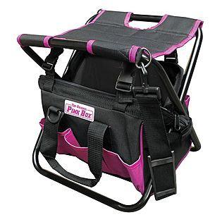 $34.00 The Original Pink Box -Pink Folding Tool Bag with Seat