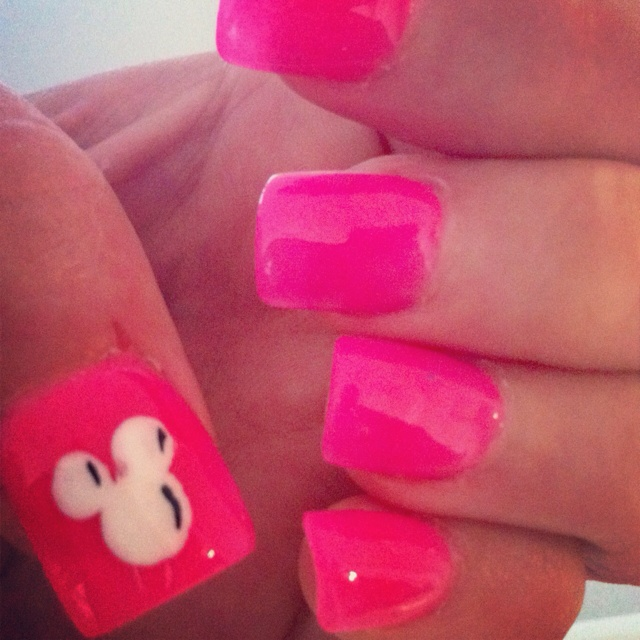 My Micky Mouse nails for Disney World!!!!