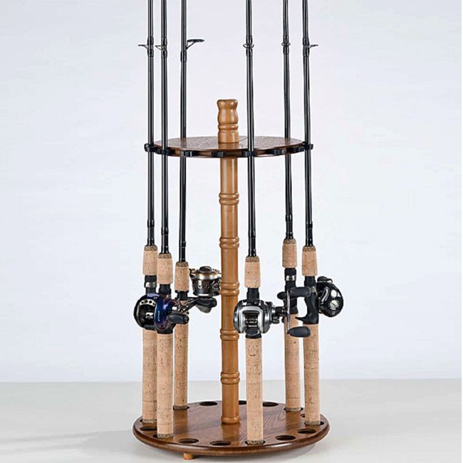 Organized Fishing 16-Rod Round Floor Rod Rack
