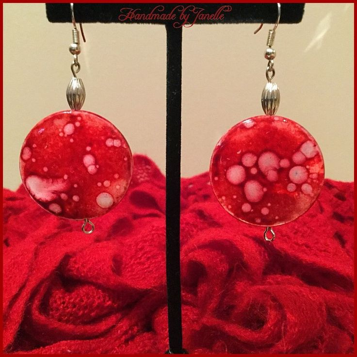 Red Mottled Shell Round Bead http://stores.ebay.com.au/Handmade-by-Janelle?_rdc=1