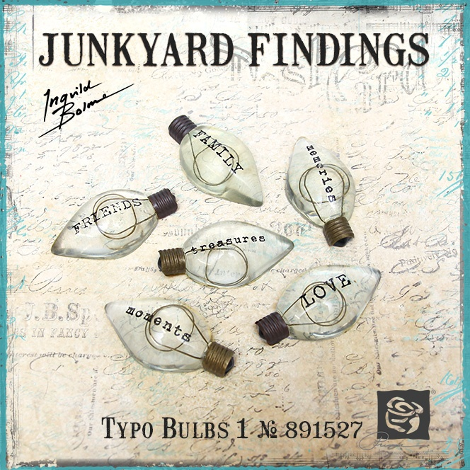 Junkyard Findings by Ingvild Bolme - Prima Typo Bulbs 1 Industrial Embellishments