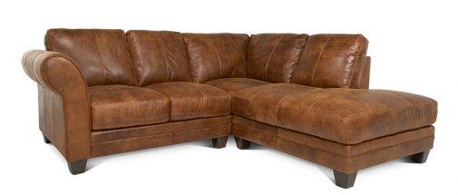 Ranch leather corner sofa