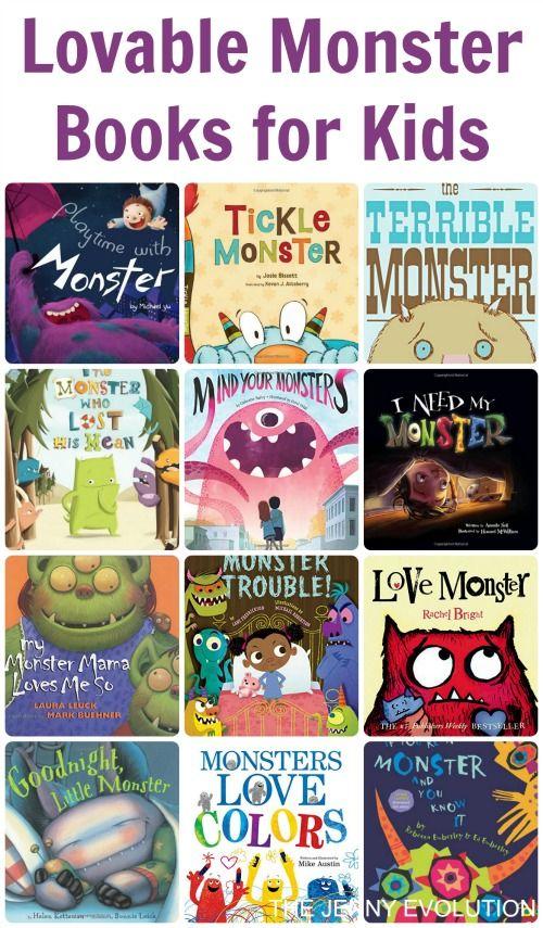 Lovable Monster Picture Books for Kids | The Jenny Evolution