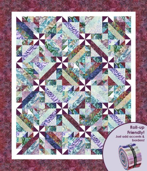"""Intertwined Pattern - <p>Finished quilt measures 64"""" x 74"""" and is roll-up friendly - just add accents & border. Pattern includes instructions for multiple sizes.</p>"""
