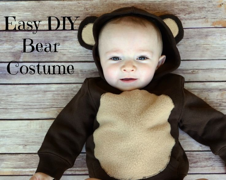 105 best baby and infant halloween costumes to make images on make an easy diy infant or toddler bear costume from a store bought jacket solutioingenieria Image collections
