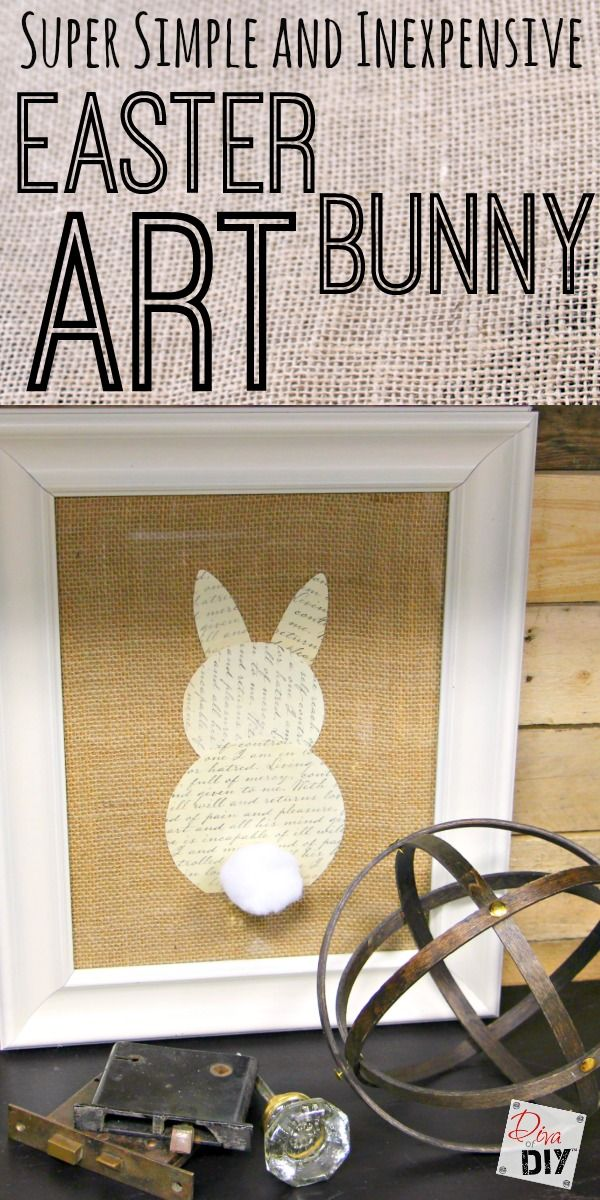 This Easter Bunny Art is so simple and inexpensive to make. You'll wonder why you've never made it before and get juices flowing for other frame projects!